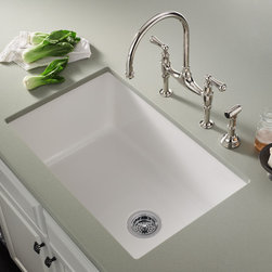 ROHL Allia Fireclay Single Bowl Undermount Kitchen Sink - ROHL