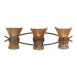 Triarch International - Triarch 23101 Bali Weathered Bronze 3 Light Vanity - Triarch 23101 Bali Weathered Bronze 3 Light Vanity