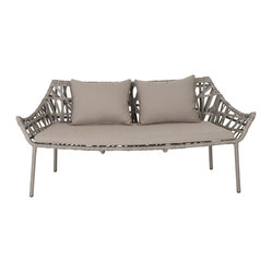 Gazelle Love Seat-Tpe - Water-resistant fabric makes this love seat an instant hit. Though the frame might remind you of wicker, it's actually aluminum. Cool, huh? Put it somewhere where libations are likely to flow and don't worry about spills.