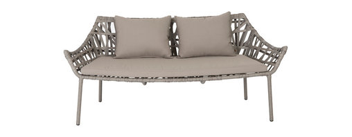 Eurostyle - Gazelle Love Seat-Tpe - Water-resistant fabric makes this love seat an instant hit. Though the frame might remind you of wicker, it's actually aluminum. Cool, huh? Put it somewhere where libations are likely to flow and don't worry about spills.