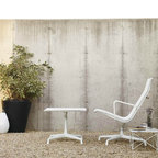 Outdoor Eames Aluminum Group Lounge Chair - The classic Eames Aluminum Group Lounge Chair goes outdoors, thanks to a weather-resistent aluminum frame and fabric suitable to withstand the elements.