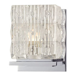 Hudson Valley Lighting - Hudson Valley Lighting 6241 Torrington 1 Light Xenon Bathroom Fixture - Hudson Valley Lighting 6241 Torrington 1 Light Xenon Bathroom FixtureThe glass shades on these glacial bathroom wall sconces look like blocks of melting ice.Hudson Valley Lighting 6241 Features: