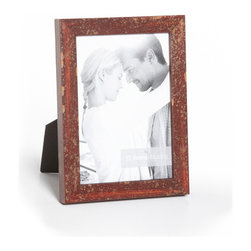 """Origin Crafts - Gianni florentine rose distressed wood picture frame - Gianni Florentine Rose Distressed Wood Picture Frame Inspired by the glorious works of treasured Italian artisans, the Gianni mouldings are an exclusive Roma creation. Gianni mouldings are hand finished and distressed to achieve a time-endured elegance. These handmade mouldings use premium woods that undergo an antiquing process by master artisans using traditions of Florentine craftsmen. Dimensions (in): Width: 3/4, Height: 5/8 Holds (4""""x6"""", 5""""x7"""", 8""""x10"""") photos. By Roma Moulding - Roma Moulding uses only the highest quality materials. Roma owes it?s renown to exquisite details: meticulous applications of gold and silver leafing, genuine woods, exotic veneers, patinas, superior lacquers and finishes all done by hand. Roma employs time proven techniques to achieve the stunning finishes other manufacturers strive to achieve. Ships within Five Business Days."""