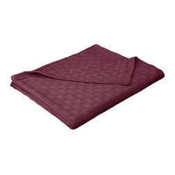 All-Season 100% Cotton Metro Blanket - Full/Queen - Plum - Wrap yourself in pure comfort with this all season 100% cotton blanket. This blanket is ideal for year-round use and comes in a variety of colors. The blanket features a phenomenal Zig-Zag pattern. Dimensions: 88x90.