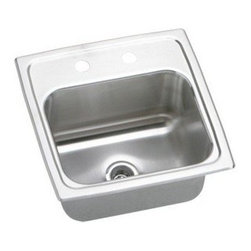 ELKAY MANUFACTURING COMPANY - 15 X 15 Three Hole Bar Sink Pacemaker Stainless Steel -