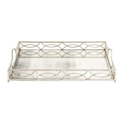 BZBZ93924 - Irish Country Superb Metal Mirror Tray - Irish Country Superb Metal Mirror Tray. This tray is evolved out of metal. The tray is perfectly designed and as clear as pearl. Some assembly may be required.