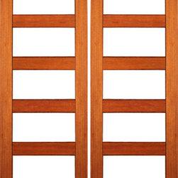 """RB-04 Interior Mahogany Contemporary 5 Lite Clear Glass Double Door - SKU#RB-04-2BrandAAWDoor TypeInteriorManufacturer CollectionInterior Doors RUBIDoor ModelDoor MaterialWoodWoodgrainMahoganyVeneerPrice680Door Size Options2(24"""") x 80"""" (4'-0"""" x 6'-8"""")  $02(28"""") x 80"""" (4'-8"""" x 6'-8"""")  +$202(30"""") x 80"""" (5'-0"""" x 6'-8"""")  +$202(32"""") x 80"""" (5'-4"""" x 6'-8"""")  +$202(36"""") x 80"""" (6'-0"""" x 6'-8"""")  +$202(24"""") x 96"""" (4'-0"""" x 8'-0"""")  +$1802(28"""") x 96"""" (4'-8"""" x 8'-0"""")  +$1802(30"""") x 96"""" (5'-0"""" x 8'-0"""")  +$2002(32"""") x 96"""" (5'-4"""" x 8'-0"""")  +$2002(36"""") x 96"""" (6'-0"""" x 8'-0"""")  +$220Core TypeSolidDoor StyleModernDoor Lite Style5 LiteDoor Panel StyleHome Style MatchingContemporary , Craftsman , Bungalow , Gulf CoastDoor ConstructionEngineered Stiles and RailsPrehanging OptionsPrehung , SlabPrehung ConfigurationDouble DoorDoor Thickness (Inches)1 3/8 , 1 3/4Glass Thickness (Inches)1/4Glass TypeSingle GlazedGlass CamingGlass FeaturesTemperedGlass StyleClearGlass TextureClearGlass ObscurityNo ObscurityDoor FeaturesDoor ApprovalsFSCDoor FinishesDoor AccessoriesWeight (lbs)620Crating Size25"""" (w)x 108"""" (l)x 52"""" (h)Lead TimeSlab Doors: 7 daysPrehung:14 daysPrefinished, PreHung:21 daysWarranty1 Year Limited Manufacturer WarrantyHere you can download warranty PDF document."""