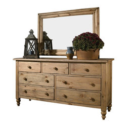 Kincaid - Kincaid Homecoming Solid Wood Triple Dresser in Vintage Pine - The Homecoming Vintage Pine Triple Dresser is made from solid pine in a natural finish. It is accentuated with clean and uncluttered lines that will fit perfectly in either a contemporary or country bedroom.