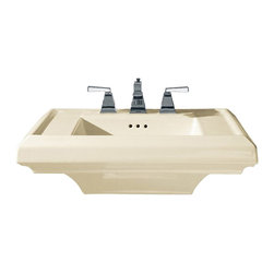 "American Standard - American Standard 0780.008.222 Town Square 27"" Sink Top, Linen - American Standard 0780.008.222 Town Square 27"" Sink Top, Linen. This pedestal sink top features a classic American design with it's clean, straight lines and ogee curves. It has a fireclay construction, a rear overflow, and a supplied mounting kit. This model measures 27"" by 21-1/4"", with a 6-1/2"" bowl depth, and 8"" centered faucet mounting holes."