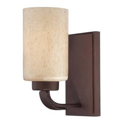 Savoy House - Savoy House 9-5432-1 1 Light Wall Sconce from the Berkley Collection - Savoy House 9-5432-1 Berkley 1 Light Wall SconceWith its rich Heritage Bronze finish, hammered details, and Hand painted Cream glass, this single light wall sconce is perfect for today's casual lifestyle. A signature piece from the Berkley collection, this piece will add warmth to your home with its warm transitional styling. Berkley will add warmth to your home with its warm transitional styling. This stylish collection has a rich Heritage Bronze finish, hammered details, and Hand painted Cream glass, making it perfect for today's casual lifestyle.Savoy House 9-5432-1 Features:
