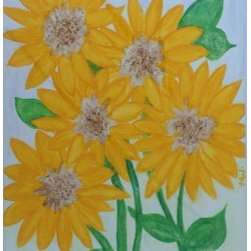 Sunny Day (Original) by Marney Williams - I've painted many different kinds of flowers. I especially love to use watercolor for flowers. I purposely paint them from an emotional eye instead of with a realistic eye.  'Sunny Day' was painted on the Summer Solstice this year (2014).  It was my gift to the changing seasons, and a thank you to Mother Nature for the gift of sunlight after a gloomy winter.