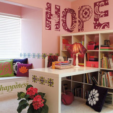 Contemporary Decals by Uppercase Living Ind. Demonstrator Jean Danieu