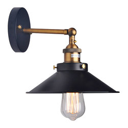 ParrotUncle - Ancient Country Style Iron Hallway Wall Lamp - Traditional metal lampshade covered industrial Edison bulb, it is stylish for your house. No matter you set it on the wall of hallway or living room. It will bring your warm light and relax you.