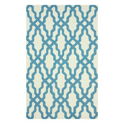 nuLOOM - Contemporary 5' x 8' Blue Hand Hooked Area Rug Trellis HK78 - Made from the finest materials in the world and with the uttermost care, our rugs are a great addition to your home.