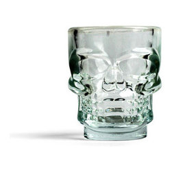 Skull Shot Glasses, Set of 4 - It's Halloween all year long with these spooky yet trendy Skull Shot Glasses. The perfect present for October birthdays or even better for a Hallowen party.