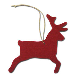 The Felt Store - Decorative Felt Reindeer Hanging Ornament - Red - The Felt Store's Decorative Reindeer is the perfect home decoration item and a great craft accessory for kids. It is made from our high-quality 5mm designer felt and measures approx. 4 inches x 4.5 inches(101.6mm x 114.3mm). Combine the Reindeer with our other Home Decor items and add some christmas atmosphere to your room or dining table. Also available in different colors.