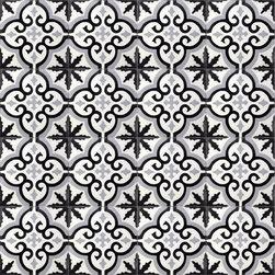 Grey Medallion Cement Tile - BY AMETHYST ARTISAN