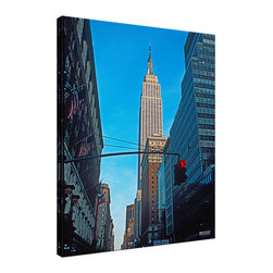 Ready2HangArt - Ready2HangArt Bruce Bain 'Empire State Building' Canvas Wall Art - This beautiful canvas wall art is from photographer Bruce Bain. His work employs elements of imagination to capture a variety of subjects. It is fully finished, arriving ready to hang on the wall of your choice.