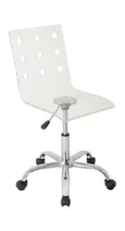 "Lumisource - Swiss Acrylic Office Chair, Clear - 22"" L x 21"" W x 30.75"" - 35.75"" H"