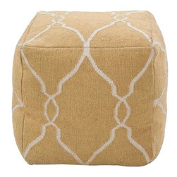 Home Decorators Collection - Argonne Pouf - Scalloped lines intertwine across the solid background color of our Argonne Pouf. This comfy cushion will make a stylish extra seat or footstool in your living room. Handmade of 100% wool. Complements contemporary and transitional styles.