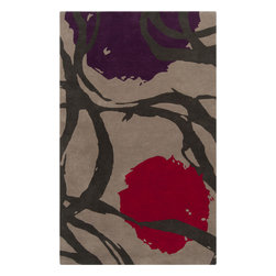 Surya - Harlequin Cherry and Taupe Hand Tufted Rug - Buy Harlequin Cherry and Taupe Hand Tufted Rug! This is the most powerful decorative component in setting the mood of a room. Available in a variety of patterns and sizes to accommodate any space.