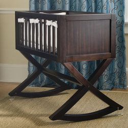 Allegro Cradle - A cradle is a wonderfully cozy way to introduce your baby to a sleep schedule. With an uncomplicated modern design, this simple cradle in a beautiful non-toxic dark finish will slip into any space in the house with style.