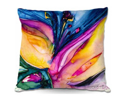 DiaNoche Designs - Pillow Woven Poplin - Soul Flower 36 - Toss this decorative pillow on any bed, sofa or chair, and add personality to your chic and stylish decor. Lay your head against your new art and relax! Made of woven Poly-Poplin.  Includes a cushy supportive pillow insert, zipped inside. Dye Sublimation printing adheres the ink to the material for long life and durability. Double Sided Print, Machine Washable, Product may vary slightly from image.