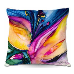 DiaNoche Designs - Pillow Woven Poplin from DiaNoche Designs - Soul Flower 36 - Toss this decorative pillow on any bed, sofa or chair, and add personality to your chic and stylish decor. Lay your head against your new art and relax! Made of woven Poly-Poplin.  Includes a cushy supportive pillow insert, zipped inside. Dye Sublimation printing adheres the ink to the material for long life and durability. Double Sided Print, Machine Washable, Product may vary slightly from image.