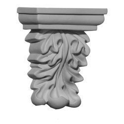 "Ekena Millwork - 3 1/2""W x 1 5/8""D x 4 1/8""H Baltimore Corbel - 3 1/2""W x 1 5/8""D x 4 1/8""H Baltimore Corbel. These corbels are truly unique in design and function. Primarily used in decorative applications urethane corbels can make a dramatic difference in kitchens, bathrooms, entryways, fireplace surrounds, and more. This material is also perfect for exterior applications. It will not rot or crack, and is impervious to insect manifestations. It comes to you factory primed and ready for your paint, faux finish, gel stain, marbleizing and more. With these corbels, you are only limited by your imagination."