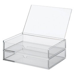 Acrylic Case, 2 Drawers with Lid - These acrylic cases have two drawers. I would house my daughter's prettiest jewelry in these.