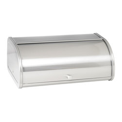Anchor Hocking - 17.5-inch Brushed Stainless Steel Bread Box - This stainless steel bread box is a great way to keep your bread fresh. The stainless steel is fingerprint resistant,eliminating the need to constantly clean and there is a sliding door panel to ensure bugs and light moisture stays away.