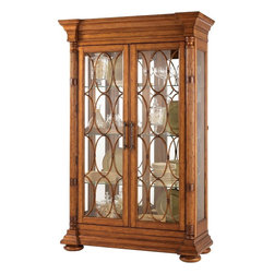 Lexington - Tommy Bahama Home Island Estate Mariana Display Cabinet - The decorative bamboo fretwork on the two glass doors causes one to pause and appreciate the strength and flexibility of nature. Yet the display options are enticing as well with six adjustable glass shelves, mirrored back, and lighted interior.
