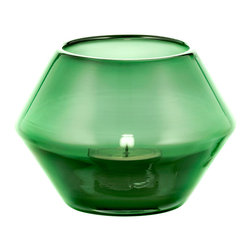 Niche Modern - Convex Votives- Sold Separately, Emerald - Strike a match and mark the moment with a Niche Modern handblown glass votive. In vibrant, luxurious new colors which are sure to bring a sense of ceremony and celebration to any table top.