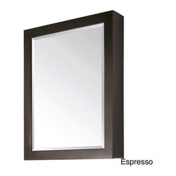 None - Avanity Modero 28-inch Mirror Cabinet in Espresso Finish - Add simple,clean style to your bathroom decor with the Modero 28-inch Mirror Cabinet. Available in white or espresso,this contemporary medicine cabinet features two interior glass shelves for storing small personal items.
