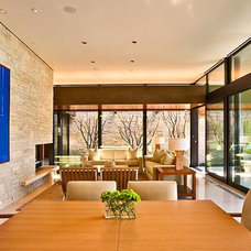 Contemporary Dining Room by Western Window Systems