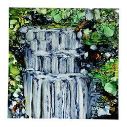 Direct from Artist - Jon Allen - Chasing Waterfalls - Painting by Jon Allen - Original, Modern, Abstract Art - Chasing Waterfalls | by Jon Allen