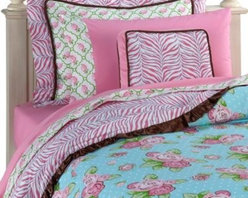 Caden Lane - Caden Lane Boutique Girl Duvet Cover - Showcasing a fashionable mix of modern and vintage style, this duvet cover has a classic floral pattern that pops and a cheerful color palette. It's a comfortable and contemporary way to brighten up your child's bedroom.