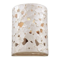 Murray Feiss - Murray Feiss WB1738 Azalia 1 Light Reversible ADA Flush Mount Wall Sconce - Features: