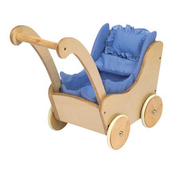 Guidecraft - Guidecraft Natural Doll Buggy - Guidecraft - Doll Furniture - G98106 - Our heirloom-quality Doll Furniture Collection is the perfect play-time ensemble. Ideal for pretend play and helping early-learning walkers to gain their balance. Made of hardwood solids each piece is available in both natural and espresso finishes.