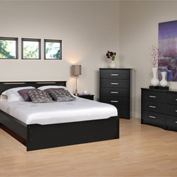 None - Yaletown 6-drawer Black Dresser - Update your bedroom to have a modern and sophisticated feel with this contemporary six-drawer black laminated wood dresser. Each drawer pulls out with a rectangular matte metal handle and runs on smooth-gliding rollers that have safety stops.