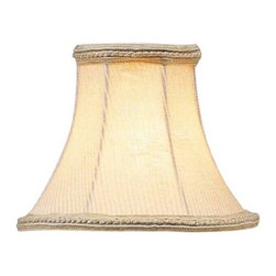 Livex Lighting Inc - Livex S128 Cream Pinstripe Bell Clip Chandelier Shade with Fancy Trim in Cream M - Shop for Chandeliers from Hayneedle.com! About Livex LightingLivex Lighting is a manufacturer and distributor of decorative residential lighting. The company was founded in 1993 and is now headquartered in a 150 000-square-foot facility in Morristown New Jersey. Livex Lighting currently offers over 2 500 products ranging from lighting fixtures for indoor and outdoor applications to lampshades chandelier shades ceiling medallions and accent furniture. The goal of Livex Lighting is to provide the highest-quality product at the most affordable price. We are constantly responding to the ever-changing needs styles and fashions of the lighting industry while always maintaining the highest standards of quality.