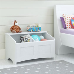 Altra - Altra Federal 29.5-inch White Toy Chest - Cut down on clutter and make any room more organized with this versatile storage unit. With two compartments for so many different uses,this versatile piece is perfect anywhere in the house.