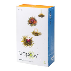 Teaposy - Teaposy Quartet Tea Set - If tea, for you, is an experience, not just a beverage, treat yourself to this collection. Four exceptional blends teas that come to life with a flower that blooms right in your cup. Truly tea-lightful!