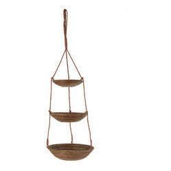3-Tier Hanging Basket in Rattan-Nito