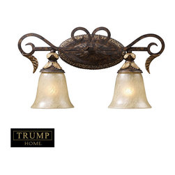 Elk Lighting - Elk Lighting 2151/2 2 Light Vanity in Burnt Bronze - 2 Light Vanity in Burnt Bronze belongs to Regency Collection by Elk Lighting Inspired By The Scrolling Design Of The Trump Family Crest, Regency Creates A Rich And Regal Ambiance. The Solid Cast Iron Scrolls And Burnt Bronze Finish Compliments The Delicate Weathered Gold Leaf Accents And Caramel Amber Glass To Create A Dramatic And Stunning Collection. Sconce (1)