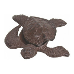 """Handcrafted Model Ships - Rustic Cast Iron Turtle Hide A Key 5"""" - Turtle Home Decoration - Let this lovely little turtle keep you from being locked out of your home. She's a darling beach decoration with a special secret. This turtle hide a key stashes a spare key safely out of sight from prying eyes, but is a charming and smart way to hold an emergency house key at reach when you need it. This turtle hide a key is a thoughtful gift idea for any beach enthusiast."""