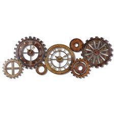 Industrial Wall Clocks by Fratantoni Lifestyles