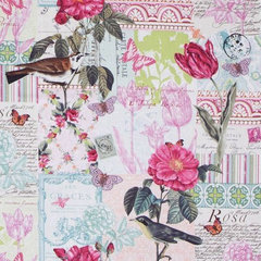 fabric Michael Miller premium laminate fabric Belle Rose