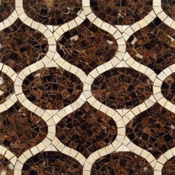 Ann Sacks Stone Mosaics - Love the stone mosaic patterns available these days  - they go from classic and traditional to modern interpretations like this one.