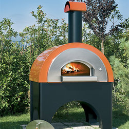 """Pizza Ovens - Forno Quick Pro is a wood burning brick hearth pizza oven hand crafted in Italy made of refractory stone and stainless steel. Measures 92"""" H x 53.5 W"""" x 49.5"""" D. In stock can ship anywhere in the United States."""